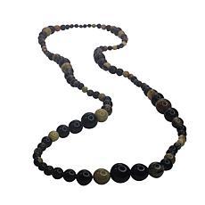 """Natural Beauties 66""""  Watusi Horn Bead Necklace"""