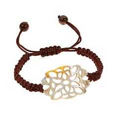 Natural Beauties Buffalo Horn Macramé Bracelet