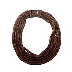 Natural Beauties Coconut Shell Bead Ombré Muti-Strand Necklace