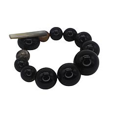 Natural Beauties Watusi Cattle Horn Bead Graduated Bracelet