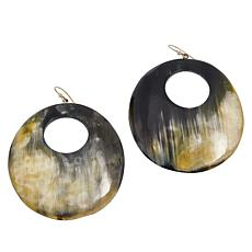 Natural Beauties Watusi Horn Domed Cut-Out Drop Earrings