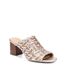 Naturalizer Analise Woven Leather Peep-Toe Heeled Slide