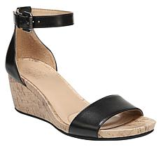 Naturalizer Cami Leather Ankle Strap Wedge Sandal