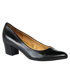 Naturalizer Carmen Leather Block-Heel Pump