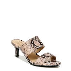 Naturalizer Tibby Leather Heeled Slide Sandal