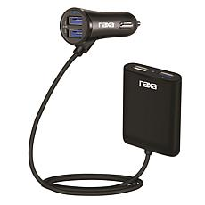 Naxa Front and Back Seat Car Charger