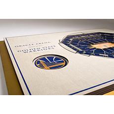 NBA  5-Layer StadiumViews 3D Wall Art - Golden State Warriors