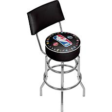 NBA Logo w/ All Teams Padded Swivel Bar Stool with Back