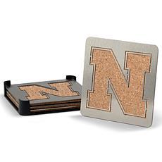 NCAA Boasters 4-piece Coaster Set - Nebraska Cornhuskers