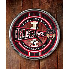 NCAA Chrome Clock - Cincinnati