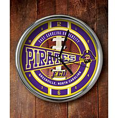 NCAA Chrome Clock - East Carolina