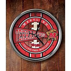 NCAA Chrome Clock - Maryland