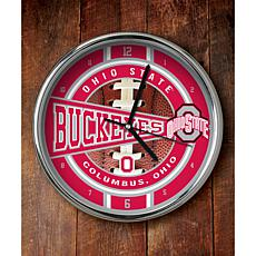 NCAA Chrome Clock - Ohio State