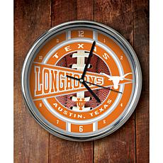 NCAA Chrome Clock - Texas