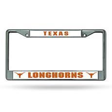 NCAA Chrome License Plate Frame - Texas