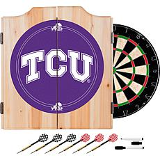 NCAA Dart Cab w/ Darts & Board - Texas Christian Univ