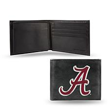 NCAA Embroidered Leather Billfold Wallet - Alabama