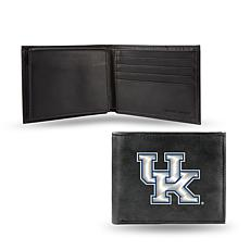 NCAA Embroidered Leather Billfold Wallet - Kentucky