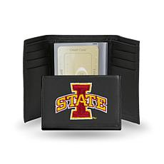 NCAA Embroidered Leather Trifold - Iowa State