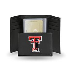 NCAA Embroidered Leather Trifold - Texas Tech