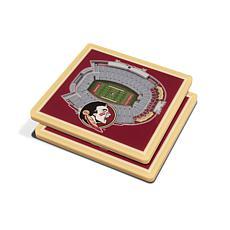NCAA Florida State Seminoles 3-D Stadium Views Coaster Set