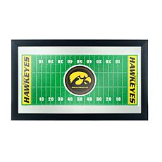 NCAA Framed Football Field Mirror - University of Iowa