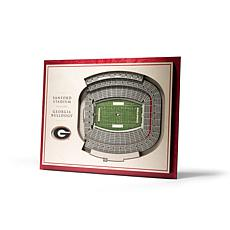 NCAA Georgia Bulldogs StadiumViews 3-D Wall Art - Sanford Stadium