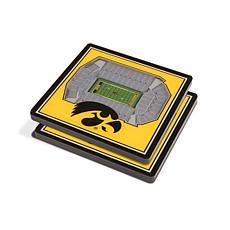 NCAA Iowa Hawkeyes 3-D Stadium Views Coaster Set