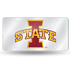 NCAA Laser Tag Silver License Plate - Iowa State