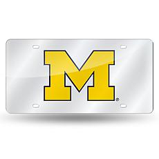 NCAA Laser Tag Silver License Plate - Michigan