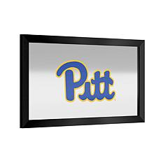NCAA Logo and Mascot Framed Mirror - U. of Pittsburgh