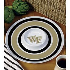 NCAA Melamine Chip and Dip Serving Tray - Wake Forest