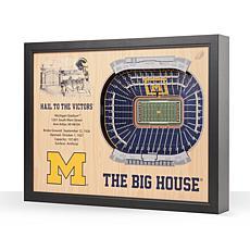 NCAA Michigan Wolverines StadiumViews 3-D Wall Art - Michigan Stadium