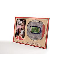 NCAA Mississippi Rebels 3-D Stadium Views Picture Frame