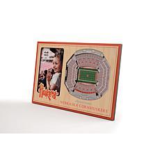 NCAA Nebraska Cornhuskers 3-D Stadium Views Picture Frame