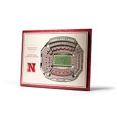 NCAA Nebraska Cornhuskers StadiumViews 3-D Wall Art - Memorial Stad...