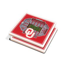 NCAA Oklahoma Sooners 3-D Stadium Views Coaster Set