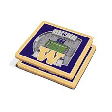NCAA Washington Huskies 3-D Stadium Views Coaster Set