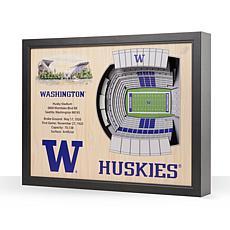 NCAA Washington Huskies StadiumViews 3-D Wall Art- Husky Stadium