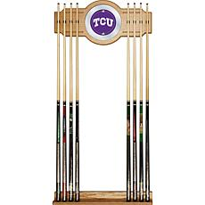 NCAA Wood and Mirror Wall Cue Rack - Texas Christian