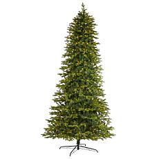 Nearly Natural 10' Belgium Fir Christmas Tree w/ 1050 Clear LED Lights