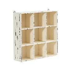 "Nearly Natural 16"" Decorative Cube Wall Organizer"