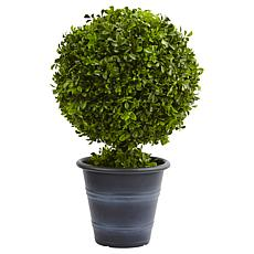 "Nearly Natural 23"" Boxwood Ball Topiary"