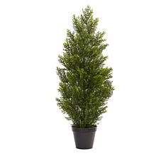 Nearly Natural 3 ft. Mini Cedar Pine Tree Indoor/Outdoor Plant