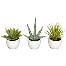 Nearly Natural 3-piece Southwest Collection Arrangement Set