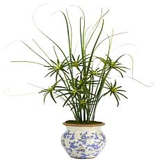 Nearly Natural 3.5' Cyperus and Grass Artificial Plant in Planter