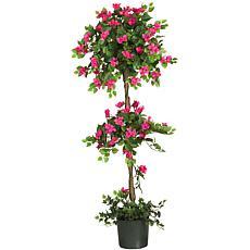 Nearly Natural 5' Mini Bougainvillea Topiary Silk Tree