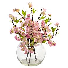 Nearly Natural Silk Cherry Blossom Arrangement