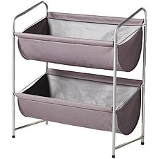 neatfreak 2-Tier Deep Fabric Bin Utility Shelf - Charcoal Gray