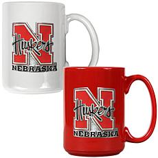 Nebraska Cornhuskers 2pc Coffee Mug Set